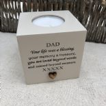 Shabby Personalised Chic Candle In Memory of a Loved one Dad Mum Nan Grandad etc - 254017439241